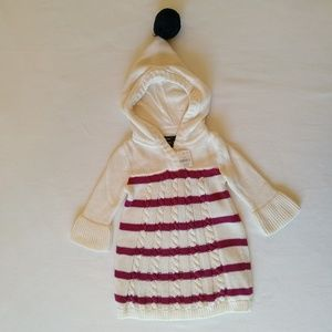 NWT 3-6 month Baby Gap cable knit sweater dress